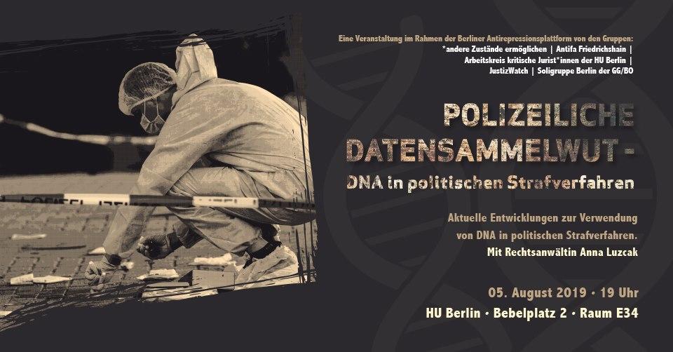 Plakat: Polizeibeamter beim Spurenaufnehmen